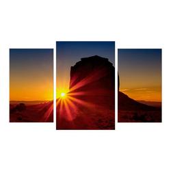 Bilderdepot24 Leinwandbild, Leinwandbild - Panorama Sunrise - Panorama Sonnenaufgang 100 cm x 60 cm