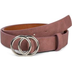 styleBREAKER Synthetikgürtel Gürtel mit Ringschnalle Gürtel mit Ringschnalle rosa 80cm