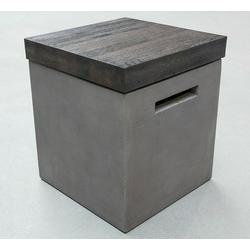 misento Stauraumhocker Hortus, mit Stauraum, aus Holz und Beton