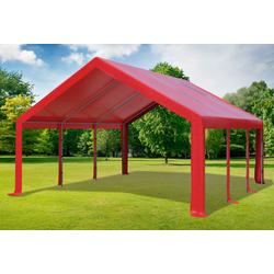 5x6 m Partyzelt PVC rot