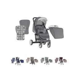 Lorelli Kombi-Kinderwagen Kinderwagen, Buggy S300, mit Fußsack, klappbar, schwenkbare Vorderräder grau
