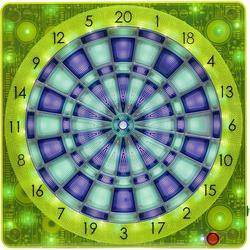 SMARTNESS® Dartscheibe Elektronische Dartscheibe, Square-501