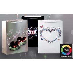 JOKA international Geschenkpapier LED Geschenktaschen Herzen 3er Set KLEIN 14128, LED Geschenktaschen 3er Set
