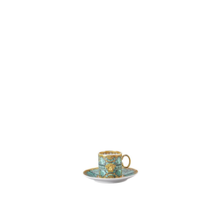 Rosenthal meets Versace Tasse Versace Scala Palazzo Verde Kaffeetasse 2 teilig (2-tlg), Porzellan