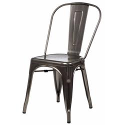Krzesło Tolader w kolorze metalu