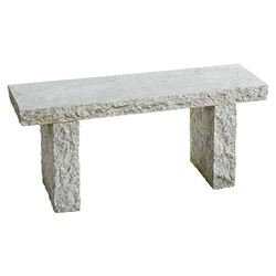 Dehner Gartenbank 2-Sitzer, 100 x 30 x 44 cm, Granit, grau