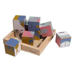 Kindsgut Würfelpuzzle Holzwürfel-Puzzle Tiere, 9 Puzzleteile