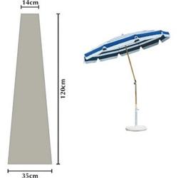 Grasekamp Schutzhülle Sonnenschirm Länge 120 cm  Plane Schutzhaube Weiß