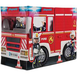 Playmobil Feuerwehrauto-Spielzelt rot-kombi