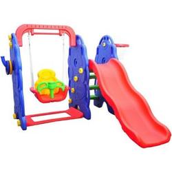 HOMCOM Kinderrutsche mit Schaukel bunt 164 x 167 x 120 cm (LxBxH)   Gartenrutsche Babyrutsche Spielzeug Rutsche