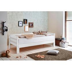 Relita Funktionsbett, mit Lattenrost und Auszug auf 180x200 cm weiß
