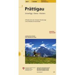 Swisstopo 1 : 50 000 Prättigau Wanderkarte