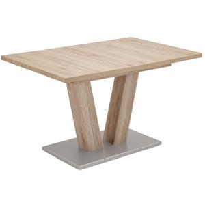 Niehoff Schiebeplattentisch 3613 in San Remo-Nachbildung, mit ausziehbarer Tischplatte