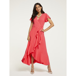 ASHLEY BROOKE by Heine Wickelkleid, zum Wickeln rot Damen Wickelkleider Kleider Wickelkleid