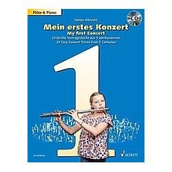 Mein erstes Konzert  für Flöte und Klavier  mit Audio-CD - Buch
