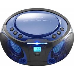 4 Stück Lenco UKW-Radio CD/MP3 tragbar SCD-550 blue