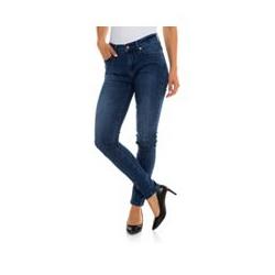 JETTE Designermode Jeanshose Jasmin 5-Pocket-Style Stretch-Denim JJ-Logo