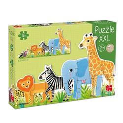 Goula Puzzle 53426 XXL Puzzle Dschungel 16 Teile Holzpuzzle, 16 Puzzleteile