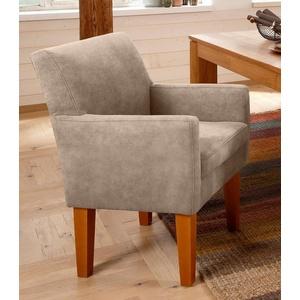Home affaire Sessel Fehmarn, komfortable Sitzhöhe von 54 cm, in 3 verschiedenen Bezugsqualitäten beige