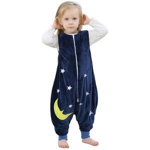 Dasongff Kinderschlafsack Flanell ärmellos Schlafsack mit Beinen Baby Overall Schlafanzug für Baby KleinkinderJunge Mädchen