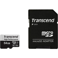 Transcend microSDXC 64GB Class 10 UHS-I A2 V30 + SD-Adapter