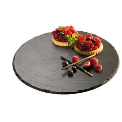 APS Servierplatte, (1 tlg.), tolles Design, Ø 32 cm schwarz Servierplatten Geschirr, Porzellan Tischaccessoires Haushaltswaren Servierplatte
