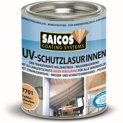 SAICOS UV-Schutzlasur Innen, farblos, UV-Langzeitschutz gegen Vergrauung und Vergilbung des Holzes, 750 ml - Dose