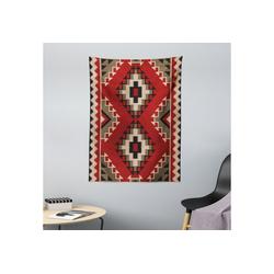 Wandteppich aus Weiches Mikrofaser Stoff Für das Wohn und Schlafzimmer, Abakuhaus, rechteckig, afghanisch Afghan Stil Motive 110 cm x 150 cm