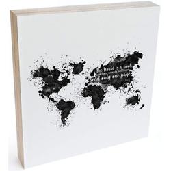 Wall-Art Holzbild Tischdeko Weltkarte Holzdeko, (1 Stück)