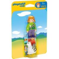 Playmobil 1.2.3 Frau mit Katze (6975)