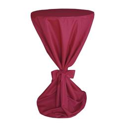 Biertischhusse Stehtischhussen für Bistrotische Bartische Tisch Überzug, Moderno rot
