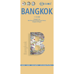 Bangkok 1 : 14 000. City Centre Map