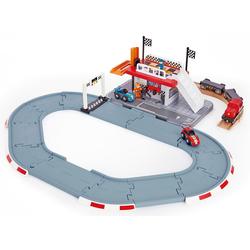 Hape Spielzeug-Eisenbahn Rennstrecken-Station