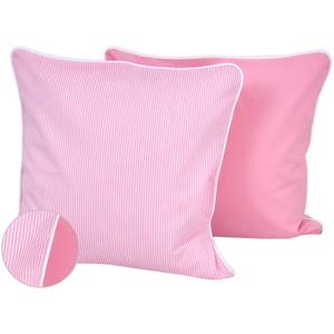 mini Fifia Kissenbezug 40x40 cm Streifen rosa und Unirosa
