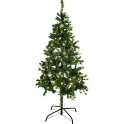 Europalms 83500298 Künstlicher Weihnachtsbaum mit Beleuchtung Tanne LED Grün mit Ständer