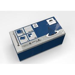 Fasana Papierserviette Serviette 24 x 24 cm 3 Lagig 1/4 Falzung royalblau blau