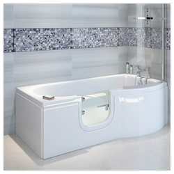 HAK Badewanne SKALI,Badewanne mit Tür, links, 167,5x85 cm, links, Komplettset