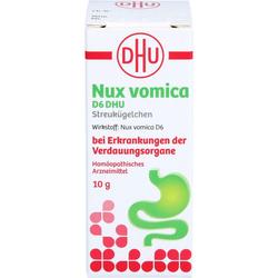 NUX VOMICA D 6 DHU Glob.bei Erkr.d.Verdauungsorg. 10 g