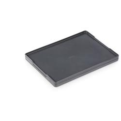 DURABLE Coffee Point Tray Tablett, Praktisches Serviertablett aus hochwertigem Kunststoff für den Geschirrtransport, Farbe: anthrazit