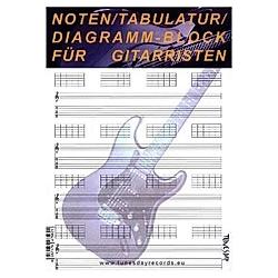 Noten/Tabulatur/Diagramm-Block für Gitarristen