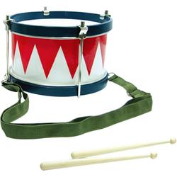 Clifton Spielzeug-Musikinstrument Kindertrommel blau/weiß/rot, mit Kinderlieder CD