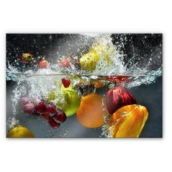 Herd-Abdeckplatte Spritzschutz Küchenwand Obst, Glas, (1 tlg)