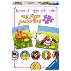 Ravensburger Puzzle Liebenswerte Tiere, My First Puzzles, 18 Puzzleteile