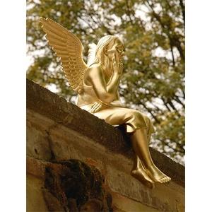 Schutzengel gold, Designer Ottmar Hörl, 67x38x25 cm