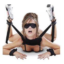 Sandritas Bondage-Set Stellungshilfe Fessel Handschellen Bondage BDSM
