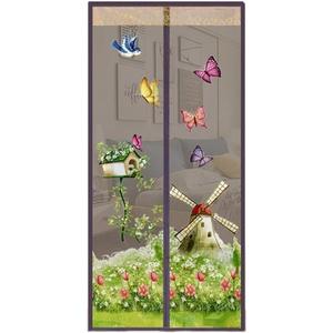 OVsler Magnet Fliegengitter TüR Insektenschutz Fliegengitter TüR Magnet Fliegengitter BalkontüR Fliegengitter Magnet Fliegenschutz BalkontüR Insektenschutz TüR FliegengittertüR Brown,100-210cm