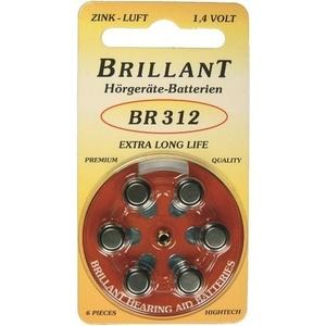 60x Brillant BR 312 Hörgerätebatterien