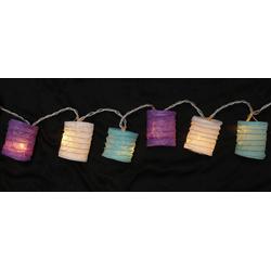 Guru-Shop LED-Lichterkette LED Lichterkette, kleine runde Lampions,.. lila