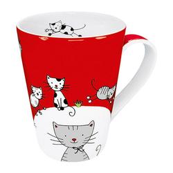 Könitz Becher Globetrotter Cat 420 ml, Porzellan