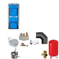 Atmos GSX70 Scheitholzvergaser / Holzvergaser | 70 kW | Komplettset 1